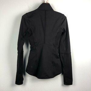 lululemon athletica Jackets & Coats - Lululemon black Mesh is More form fitted jacket